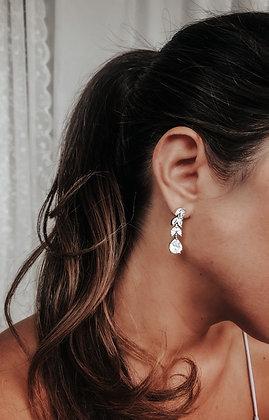 Crystal Princess 925 Silver Earrings