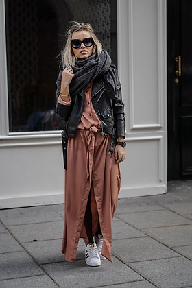 Satin Maxi Kimono Dress