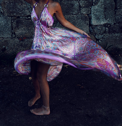 Satin Maxi Rocca Dress