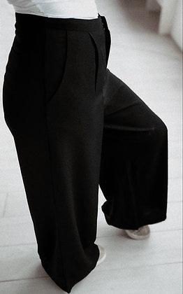 Flared Black Trousers