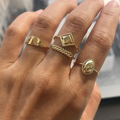 Cosmic 925 Gold- Plated Silver Ring