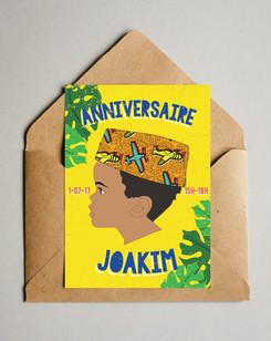 Carton invitation anniversaire