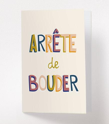 ARRETE DE BOUDER