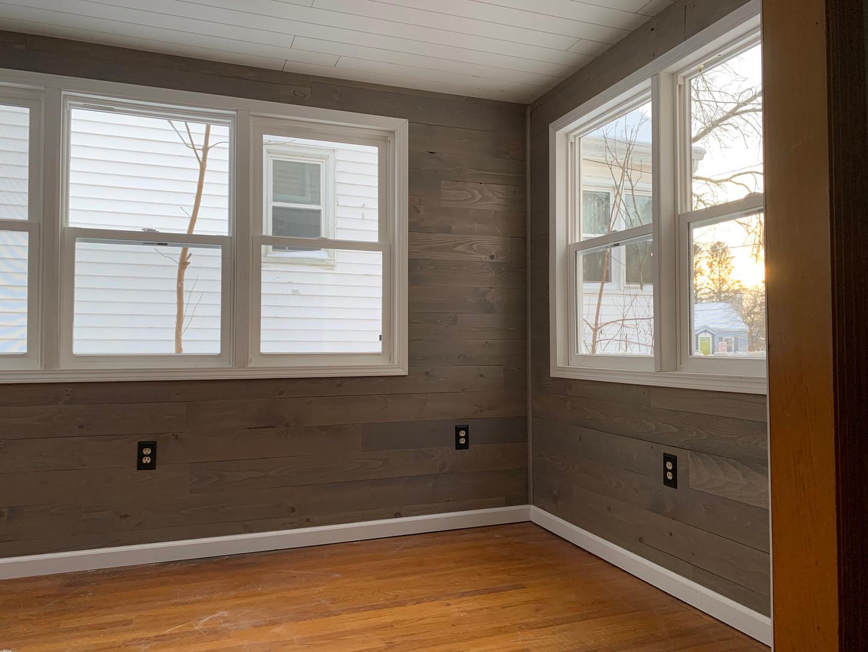 Custom windows. facelift of this 4 season room.
