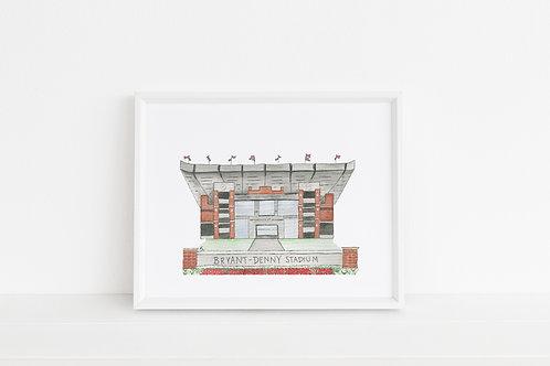 Bryant-Denny Stadium Print 8x10