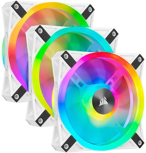 CORSAIR QL Series, iCUE QL120 RGB 120mm RGB LED Fan Triple Pack with Lighting No