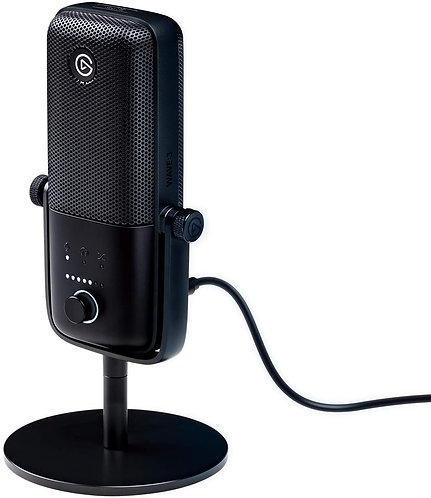 Elgato Wave:3 USB Condenser Microphone Digital Mixer for Streaming Recording, Po