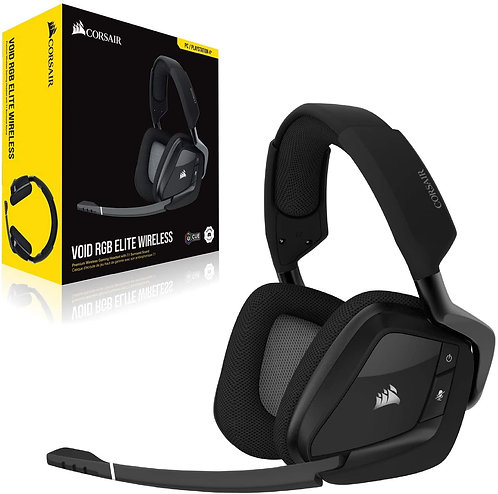 Corsair Void RGB Elite Wireless 7.1 Surround Gaming Headset For: PC /PS4/ PS5