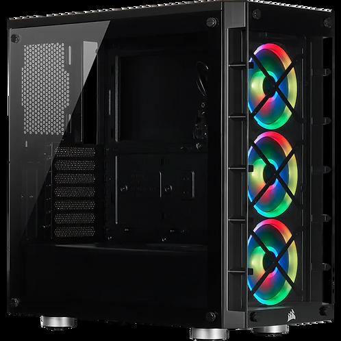 Corsair Icue 465X RGB Mid-Tower ATX Smart Case Black