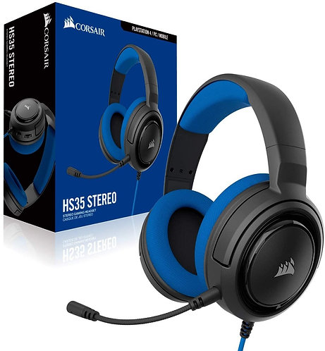 Corsair HS35 Wire Blue Stereo Gaming Headset PC, PS4/ PS5 , Xbox One / Series XS