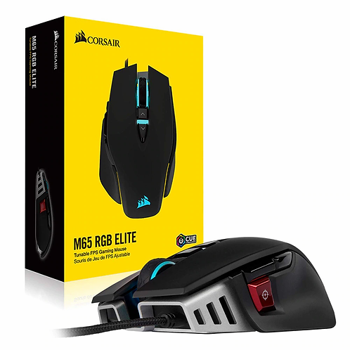 Corsair M65 RGB ELITE Tunable FPS Gaming Mouse Wire 18,000 DPI Prog Buttons 8 Se