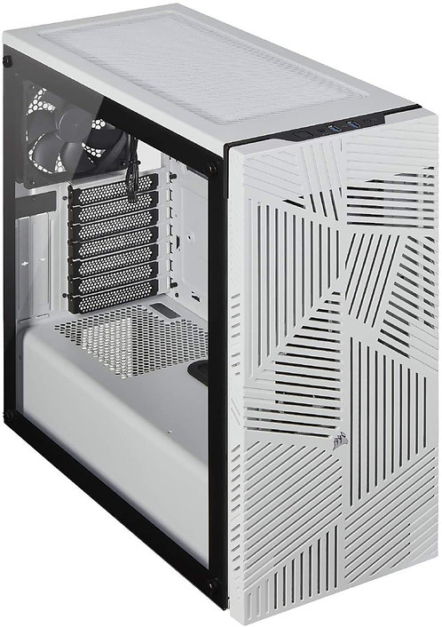 Corsair 275R Airflow Tempered Glass Mid-Tower Gaming Case, WHITE