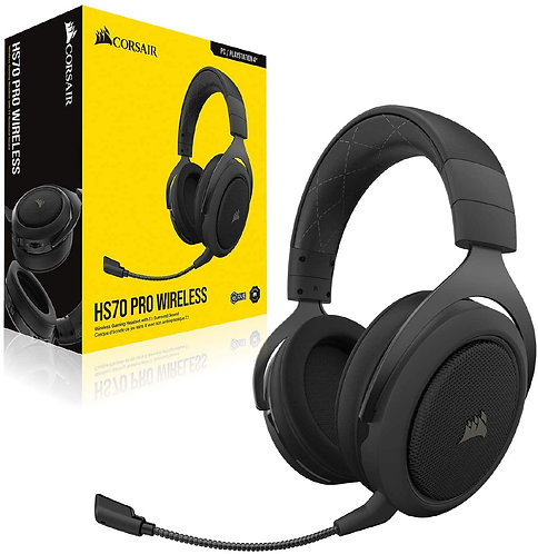 Corsair HS70 Pro Wireless 7.1 Surround Gaming headset Color Carbon For : PC/ PS4