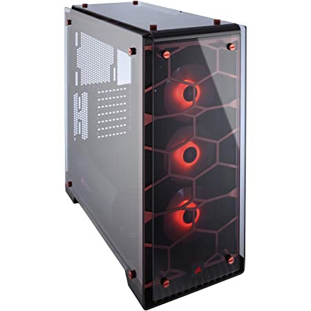 CORSAIR Crystal 570X RGB Mid-Tower Case 3 RGB Fans Tempered Glass RedCORSAIR Cry
