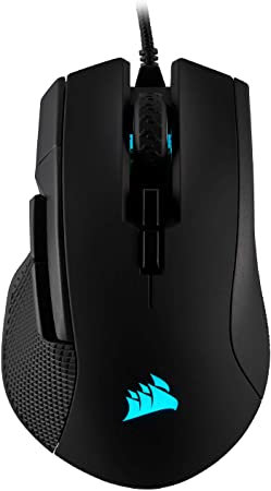 Corsair IRONCLAW RGB FPS/MOBA Gaming Mouse Wire 18,000 DPI Prog Buttons 7 Select