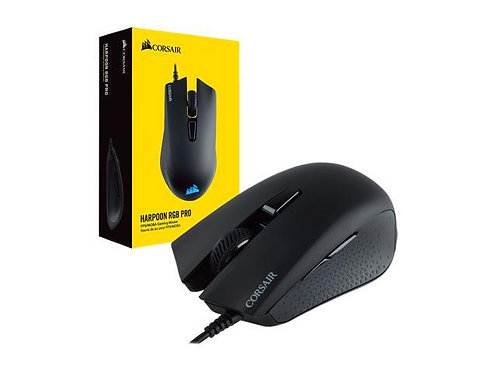 Corsair HARPOON RGB PRO FPS/MOBA Gaming Mouse Wire 12,000 DPI Prog Buttons 6 Sel