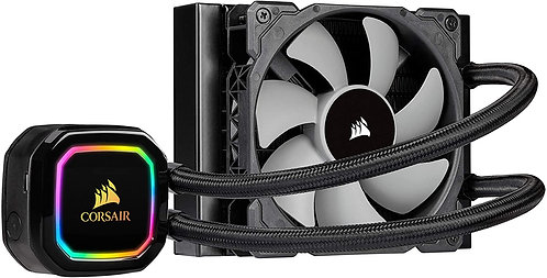 CORSAIR iCUE H60i RGB PRO XT 120mm Radiator, Single 120mm PWM Fan Software Contr