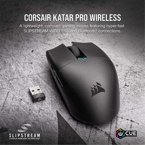 Corsair KATAR PRO Wireless Gaming Mouse Wireless 10,000 DPI Prog Buttons 6 Selec