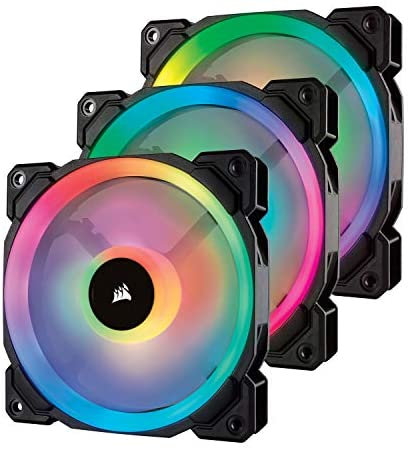 Corsair LL Series LL120 RGB 120mm Dual Light Loop RGB LED PWM Fan 3 Fan Pack wit