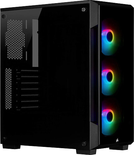Corsair iCUE 220T RGB Tempered Glass Mid-Tower ATX Smart Gaming Case, Black