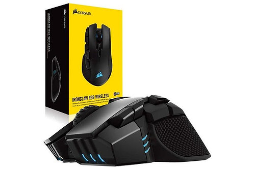Corsair IRONCLAW RGB WIRELESS and wire 18,000 DPI Prog Buttons 10 Selectable 100