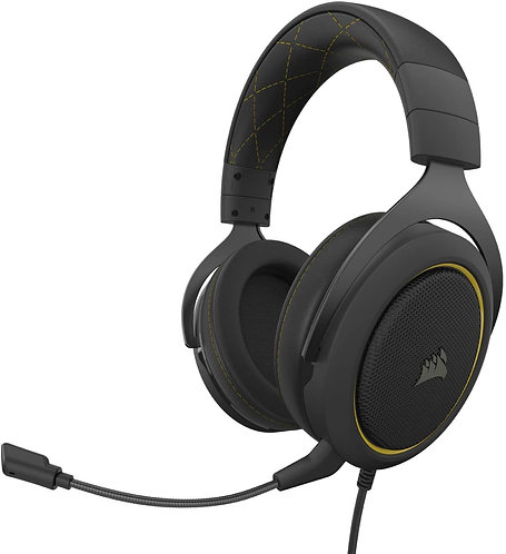 Corsair HS60 PRO Wire Yellow 7.1 Virtual Surround Sound Gaming Headset with USB