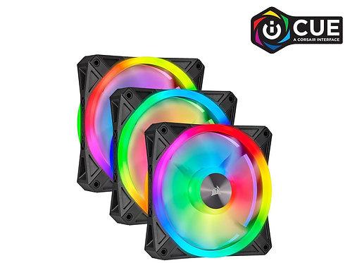 CORSAIR QL Series, iCUE QL120 RGB 120mm RGB LED Fan Triple Pack with Lighting No