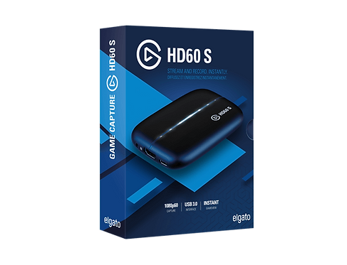 Elgato HD60 S Capture Card 1080p 60 Capture Zero-Lag Passthrough Ultra-Low Laten