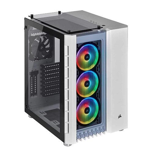 CORSAIR Crystal Series 680X RGB High Airflow Tempered Glass ATX Smart Case White