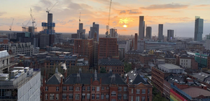 High density new residential developments are driving rapid population growth in Manchester and Salford