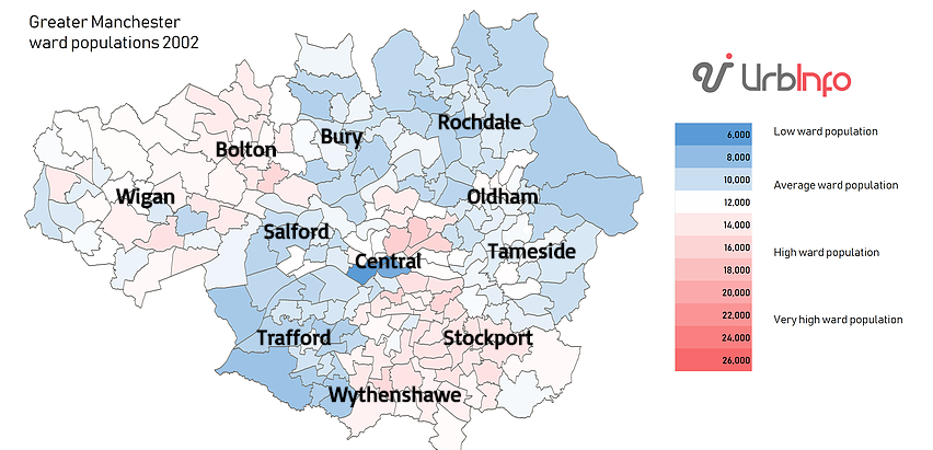 The urbanising city: analysing the way the population of Greater Manchester has changed since 2002