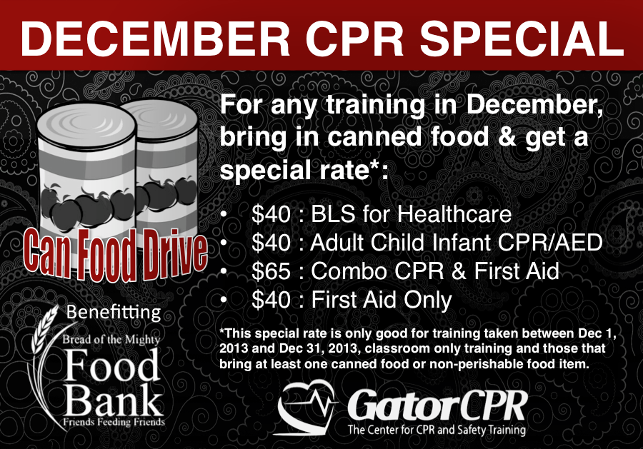 Gatorcpr Hosts Can Food Drive Cpr Training Gainesville Ocala