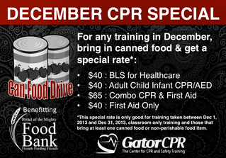 GatorCPR hosts Can Food Drive