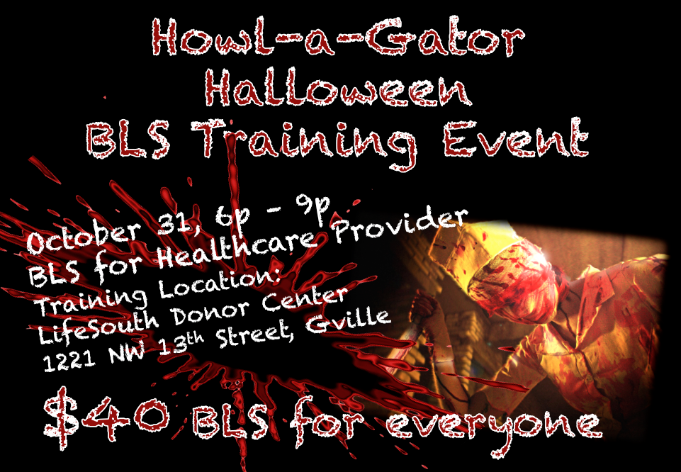 Howl A Gator Bls Event 40 Cpr Cpr Training Gainesville Ocala