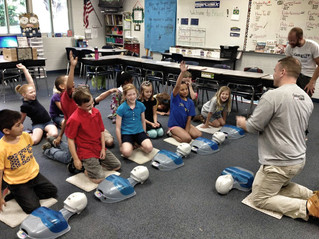 GatorCPR teaches CPR to Newberry Elem. Students