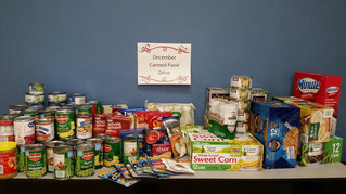 December Canned Food Drive