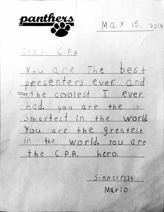 Testimonial from one of our littlest students