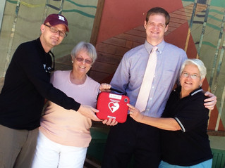 HeartSafe City awards its first AED
