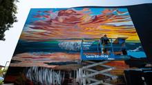 Creating the RipCurl WSL Finals Artwork + SC Mural