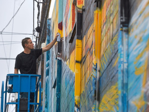 Large-scale San Clemente Mural for Surfing's Debut in the 2021 Olympics | USA Surfing