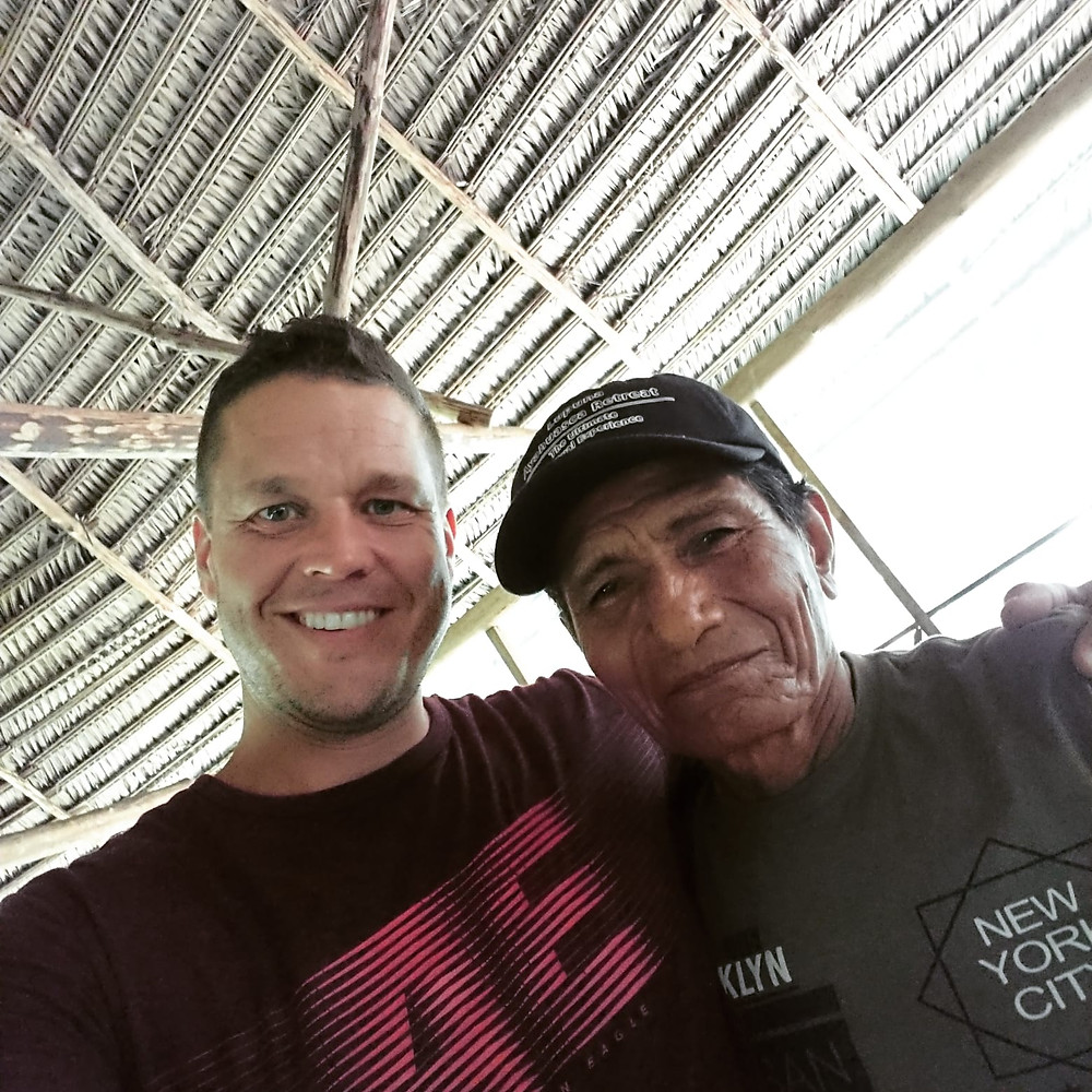Matt and the Master Shaman Julio in Lupuna Retreat