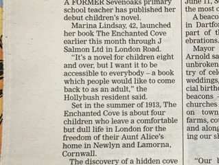 Article about The Enchanted Cove from Sevenoaks Chronicle