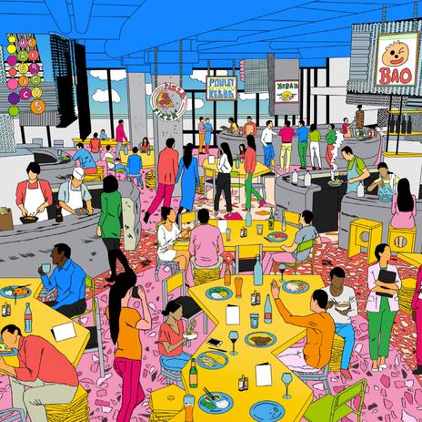 Le phénomène Food Court prend de l'ampleur en France
