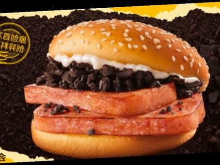 Le nouveau Burger aux Oreo et à la viande de Mcdonald's en Chine