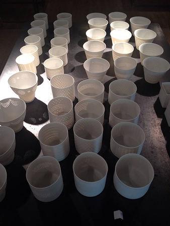 Photophore porcelaine de Limoges - Lumiére douce - Patrick Sibille - Décoration - design - ambiance douce et chaleureuse -