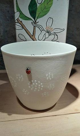 Photophore porcelaine de Limoges - Lumiére douce - Patrick Sibille - Décoration unique, design et élégante - ambiance douce et chaleureuse - artisanat -