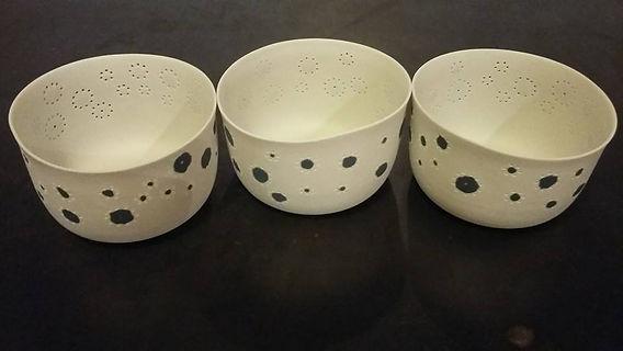 Photophores porcelaine de Limoges - Lumiére douce - Patrick Sibille - Décoration unique, design et élégante - ambiance douce et chaleureuse - artisanat d'art