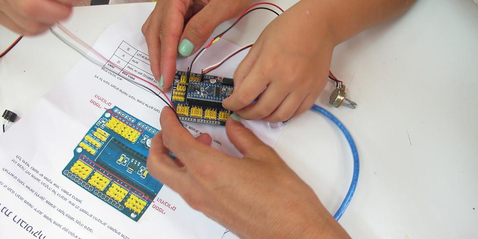 סדנת רובוטיקה מחומרים ממוחזרים לילדים ולהורים