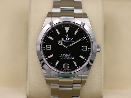 Rolex Explorer I 214270 39mm Full Lume Dial Stainless - 2018 Box & Papers!
