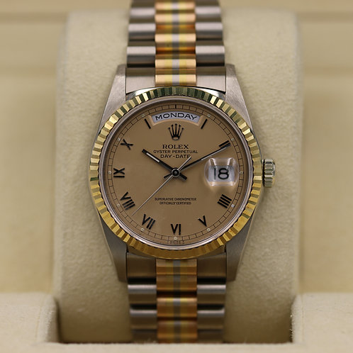 Rolex Day-Date President 18239b Tridor - 18K white/yellow/rose gold